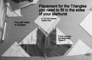 The triangle shaped LeMoyne Star