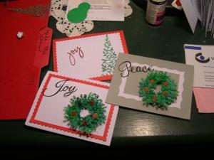 xmas card making